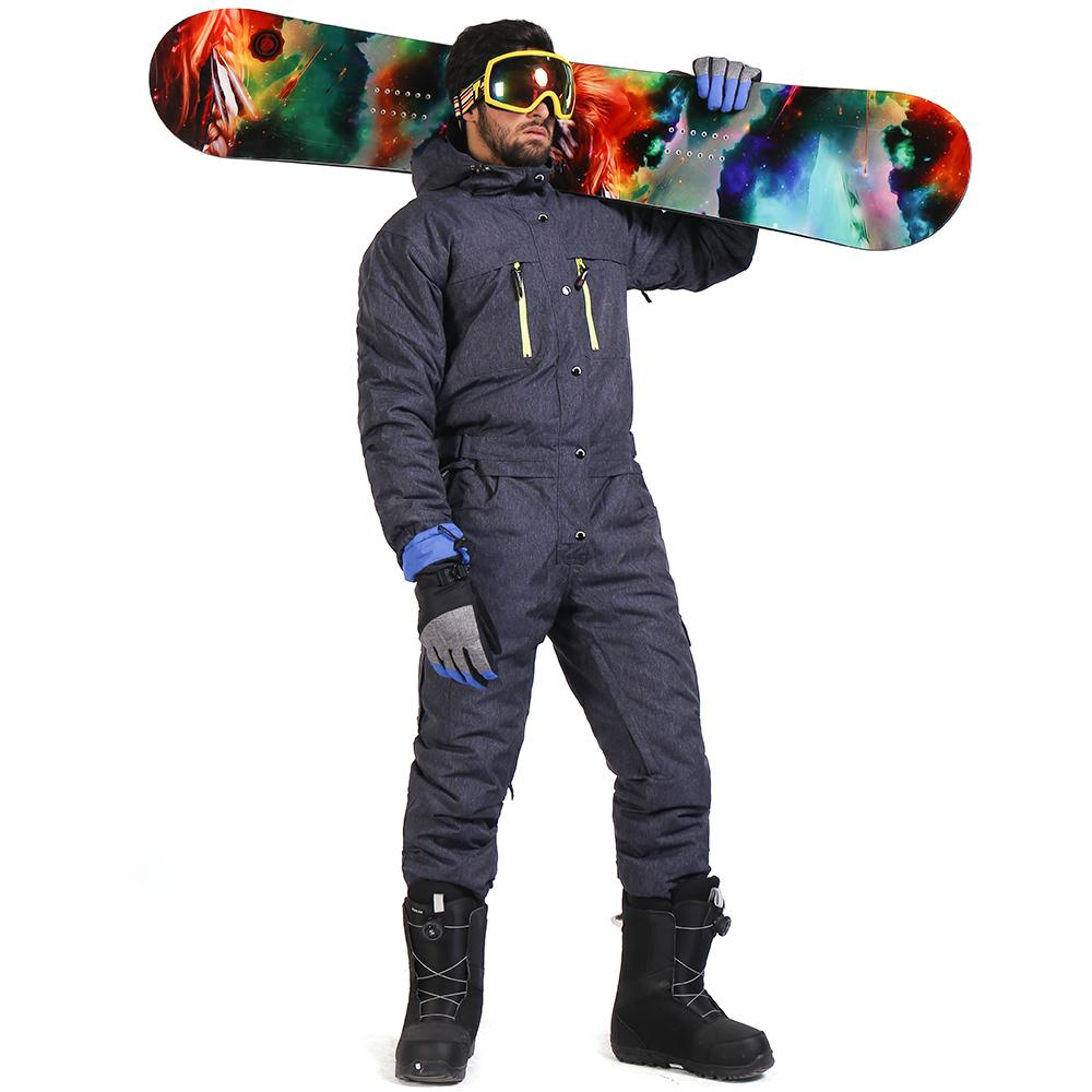 cfb36d2555c 2019 SAENSHING Winter Ski Suit Men One Piece Snow Jumpsuit Waterproof Thick Warm  Snowboard Jacket Snowboarding Pants Mountain Skiing From Curtainy