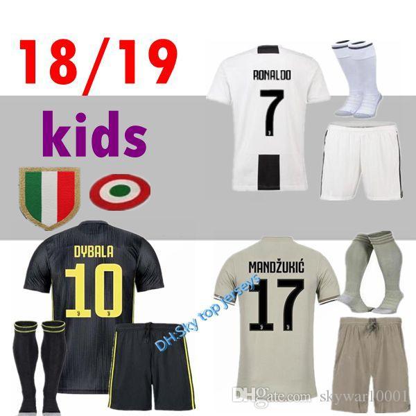 1997c10d6 2018 2019 DYBALA 10 Soccer Jersey Home MANDZUKIC 18 19 RONALDO ...