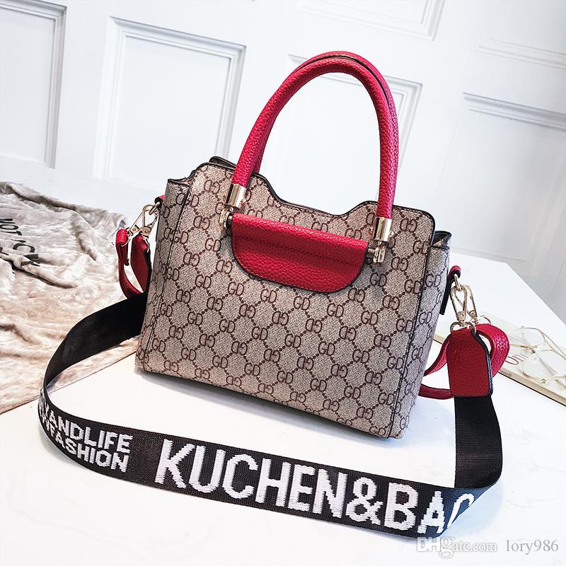 57195aad83e0 2018 Fashion Letters Messenger Tote Bags Purse Ladies Shoulder Tote ...