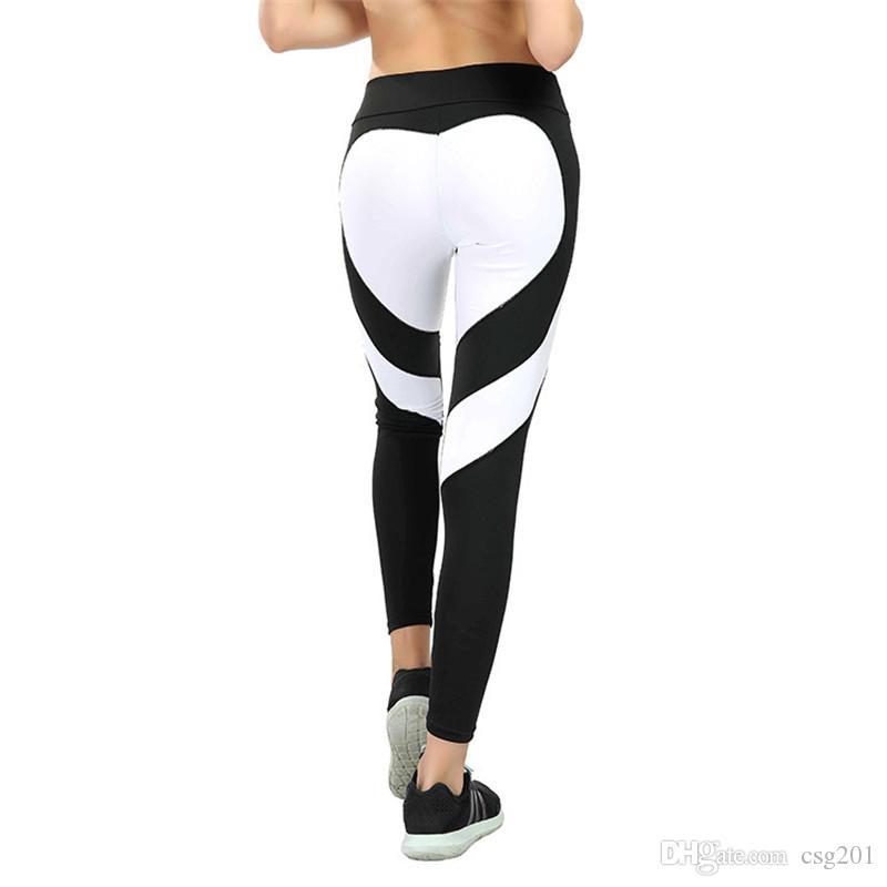 d87292b3e8922 Women Leggings Heart Shape Colorful Yoga Pants Crossfit Tights Fitness Women  Running Jeggings Gym Trousers Legging Sport Leggins Sportwear Legging  Leggins ...