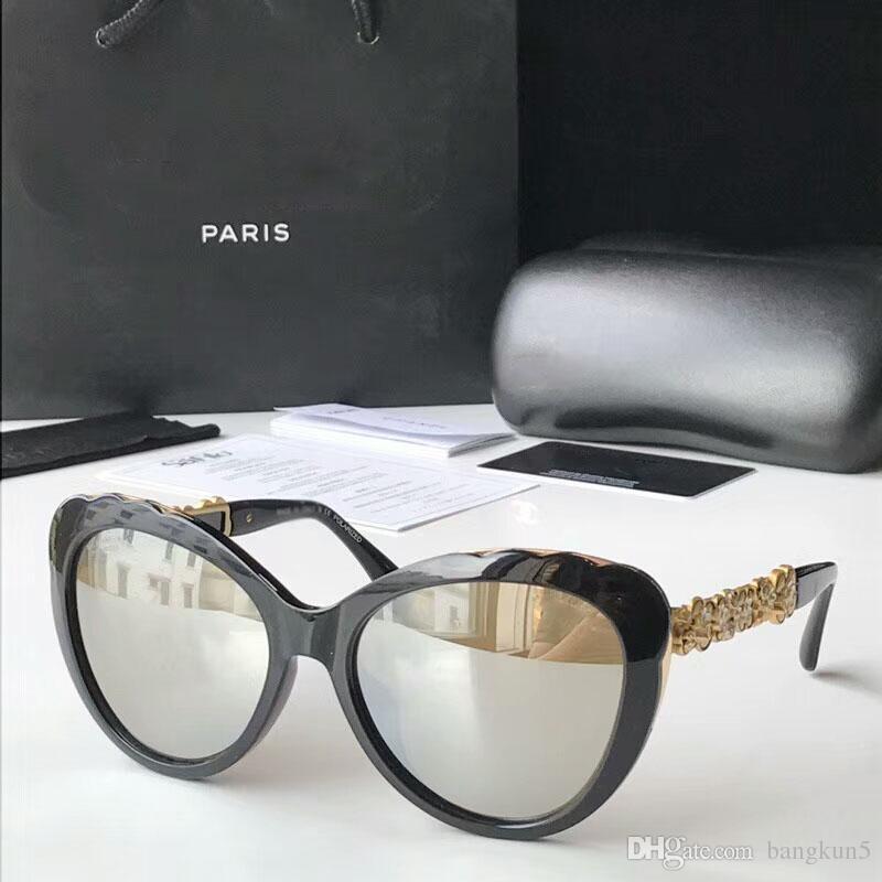 32d2767950d6a Compre Nova Moda Óculos De Sol Ch5354 Modelo Full Frame Barroco Estilo  Camellia Pés Proteção Uv400 Eyewear Alta Qualidade Com A Caixa Original De  Bangkun5, ...