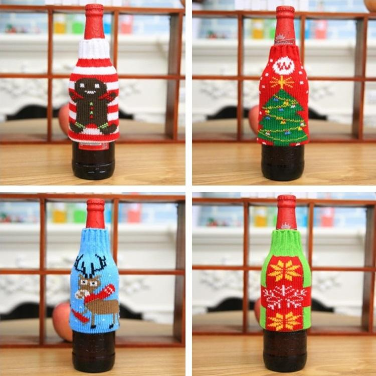Fashion Christmas Products 40 Styles Christmas Knitwear Bottle Glass Magnificent Decorate Beer Bottles For Christmas