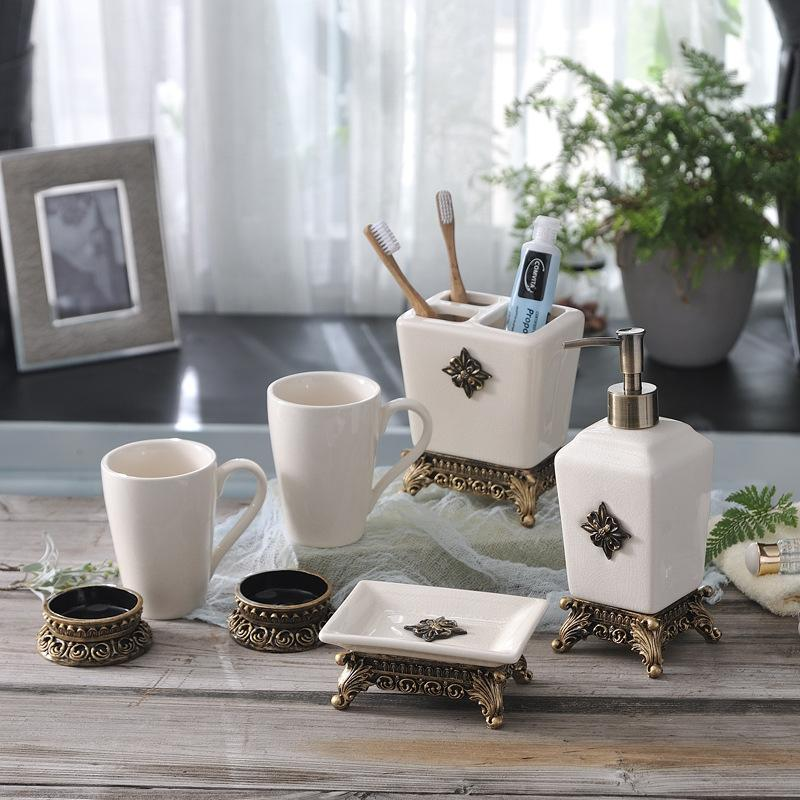 New Nordic Ceramic Sanitary Ware Wash Bath Simple Toothbrush Holder ...