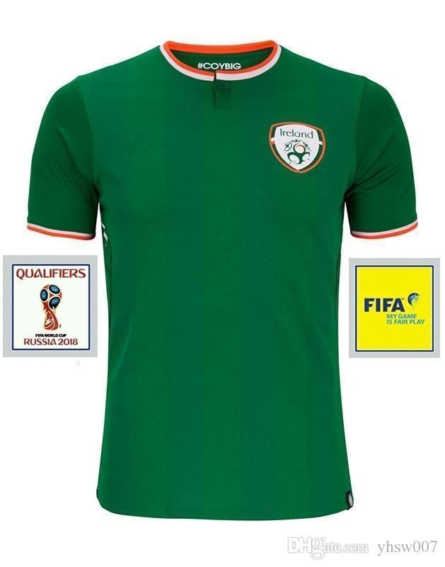 a2f375448ddcd 2018 Ireland soccer jerseys Thai quality Ireland national team jerseys 2018  World Cup Ireland KEANE Daryl home away Irish football shirts