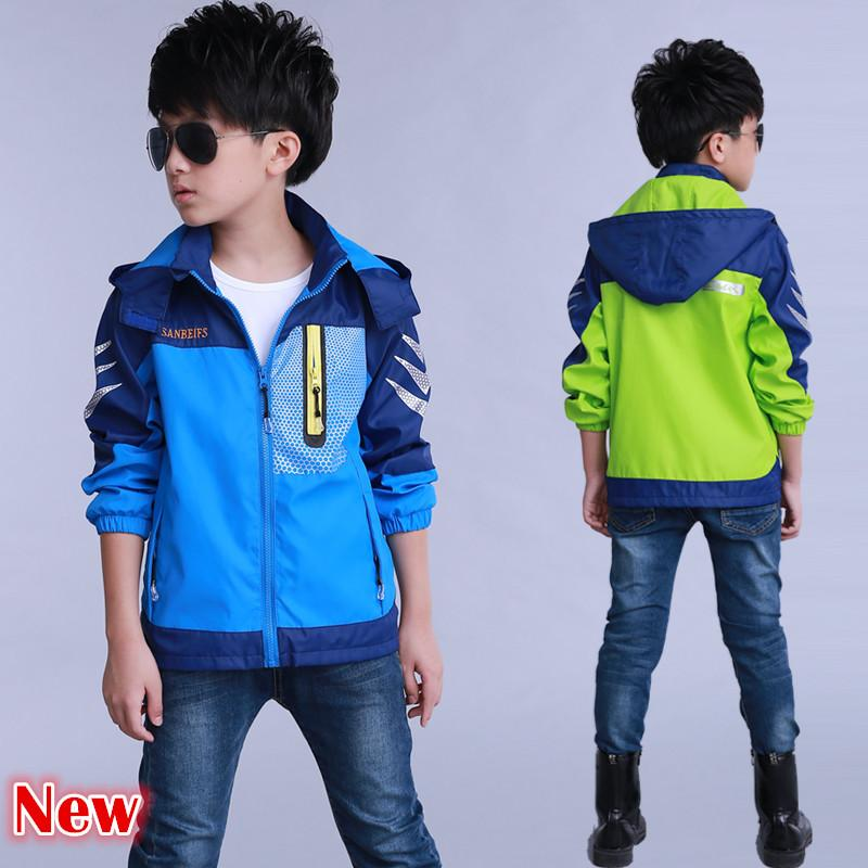 95490d003a39d 2018 Autumn kids jacket boys fashion outdoor windbreaker printed clothing  teenager boy s casual outerwear coat spring tops
