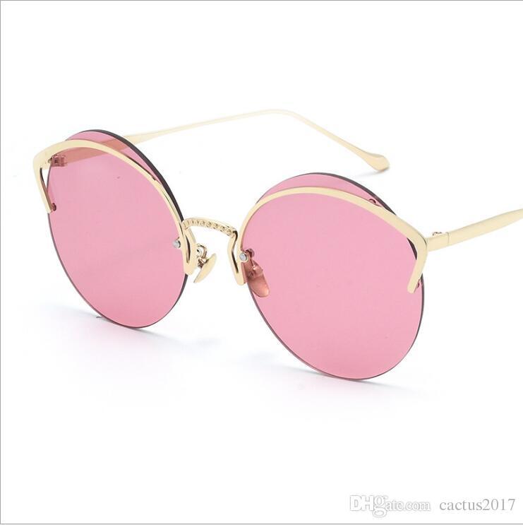 d2eaf96f1e59 New Fashion Cat Eye Luxury 2019 Sunglasses Women Brand Designer Mirror Men  Sun Glasses Vintage Female Oculos De Sol Eyewear Designer Sunglasses From  ...