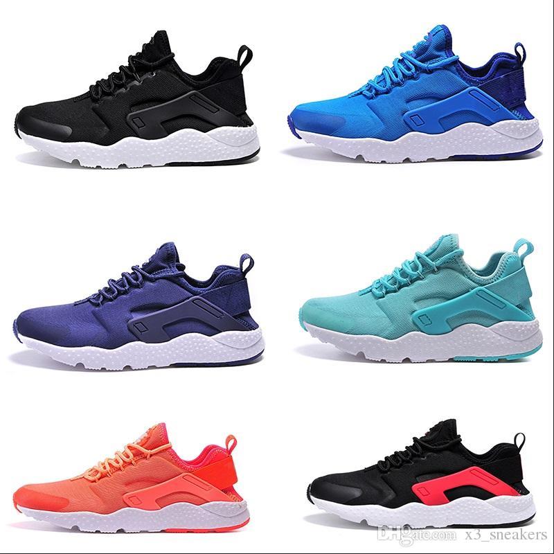 check out 03c82 75914 Acheter 2018 3 Sneakers New Huaraches 3 III Chaussures De Course Pour  Femmes Hommes, Noir Blanc Rouge En Cuir De Haute Qualité Sneakers Huaraches  Sport ...