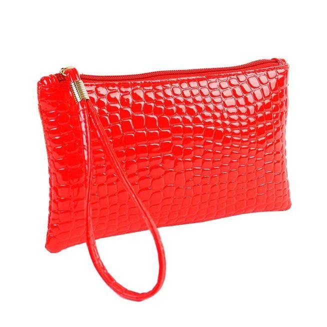 050c3b2f9ffe hotsale Clutch Bag Women simple Ladies Crocodile Leather Evening Clutch  Bags Handbag Leather Bag Coin Purse Bolso Mujer