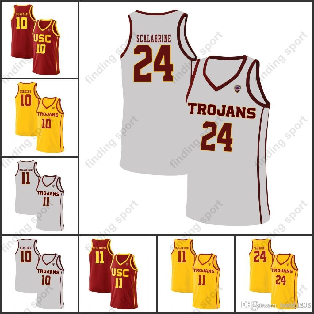 a9c537229 2019 NCAA Mens USC Trojans College Basketball Jerseys DeMar DeRozan Fleming  Charles Bannon Jr. Dedmon Karis Gibson Bennie From Fanatics02