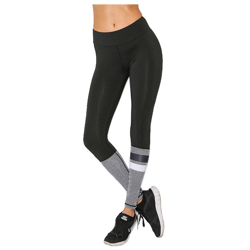 79e20d30aa Women's New Running Tights Black Sport Leggings Ladies Mesh Print Yoga Pants  Breathable Quick Dry Gym Workout Clothing