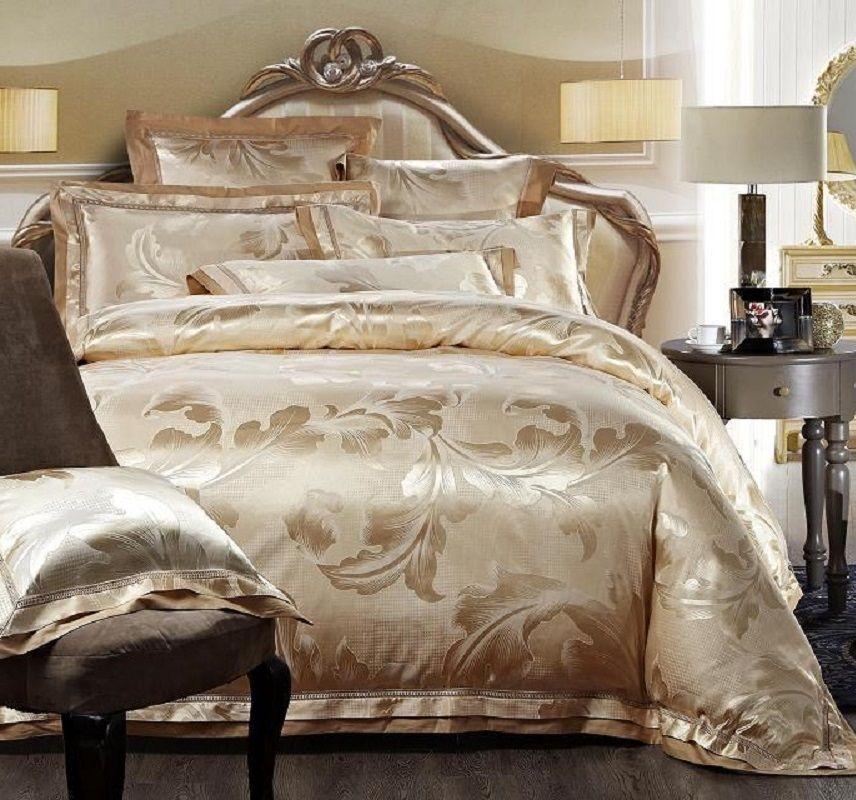 Top Grade High Quality Luxury Silk Cotton Jacquard Hotel Bed Sheet Set  Bedclothes Duvet Quilt Cover Set Bedding Duvet And Duvet Cover Cheap Full  Size ...