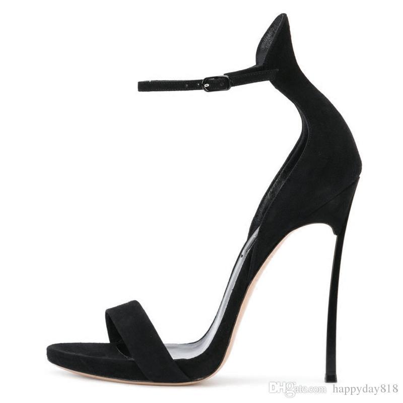 Fashion Women Sandals Black Tan Suede Real Leather Ankle Wrap Strass  Rhinestone Platform High Heels Shoes Pumps 100mm Dansko Sandals Tall Gladiator  Sandals ... cbb8ef748777