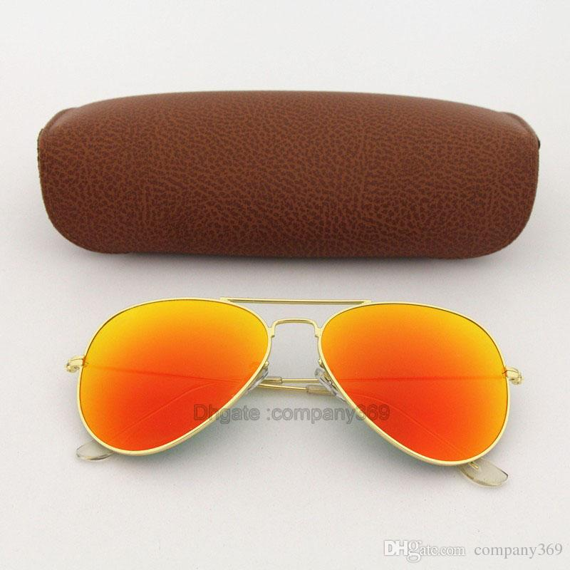 Best quality Orange Colorfull lens pilot Fashion Sunglasses For Men and Women Vassl Brand designer Vintage Sport Sun glasses With box