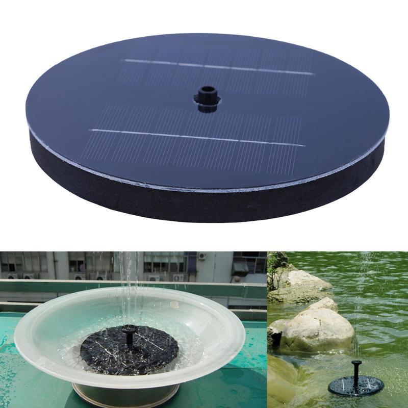 Schwarz Outdoor Solarbetriebene Vogel Bad Wasser Brunnen Pumpe Pool Garten Aquarium Panel Garten Pflanzen Bewässerung Power Brunnen Pool