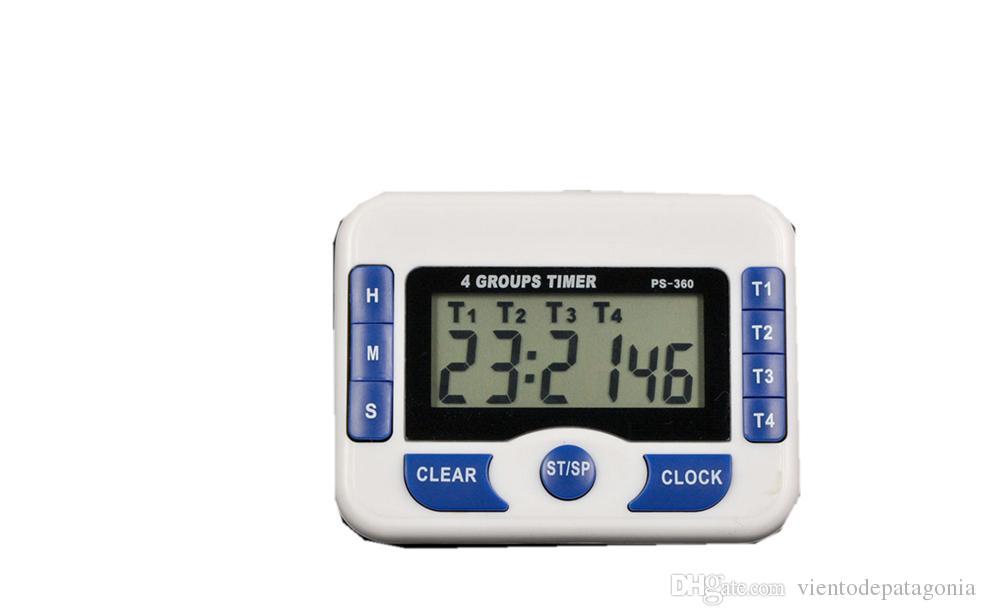Acquista Timer Digitale A 4 Canali Timer Da Cucina Da 1s A 99hrs ...