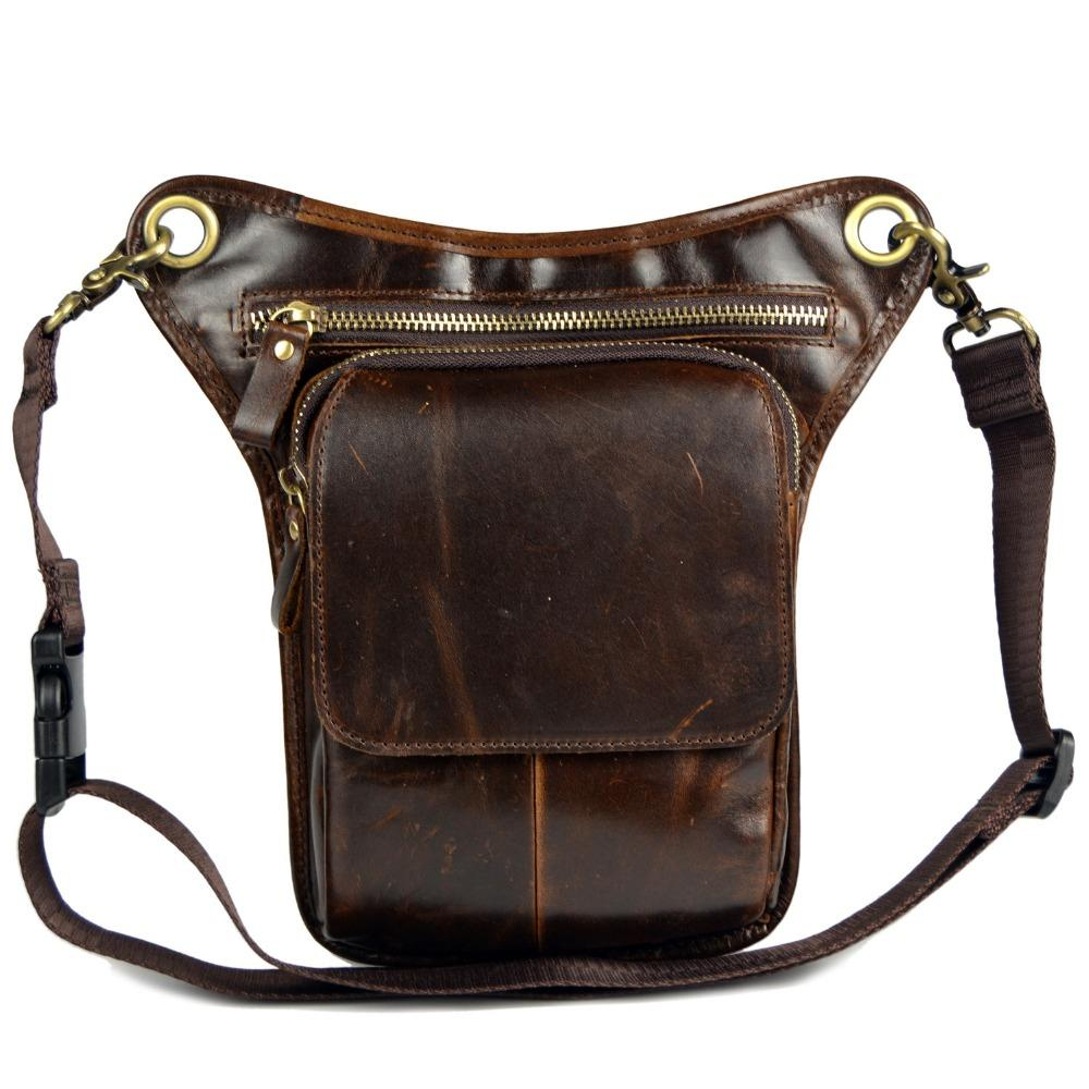 Genuine Leather Messenger Bags For Men Male Small Shoulder Bags Leg Man  Cowhide Strap Waist Pack Backpacks With Wheels Best Handbags From Heheda3 b656bca9ad2