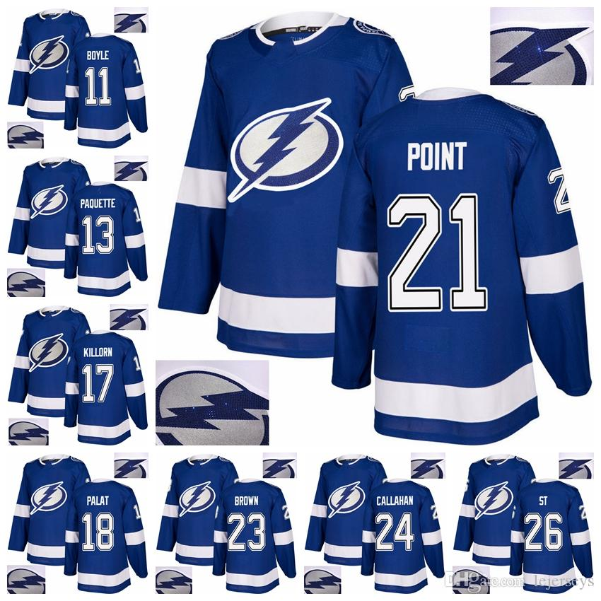 2019 2018 New Tampa Bay Lightning Jersey Hot Drilling 26 Martin St. Louis  13 Cedric Paquette 17 Alex Killorn 21 Brayden Point Jersey From Lejerseys 20fac9515