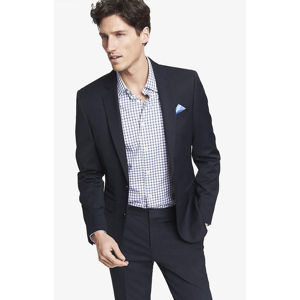 2019 Latest Coat Pant Designs Black Smart Casual Business Men Suit
