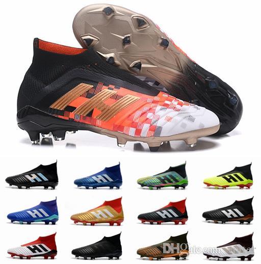 baffa5e29942 2018 New Predator 18 FG Mens Soccer Cleats Chaussures De Football ...