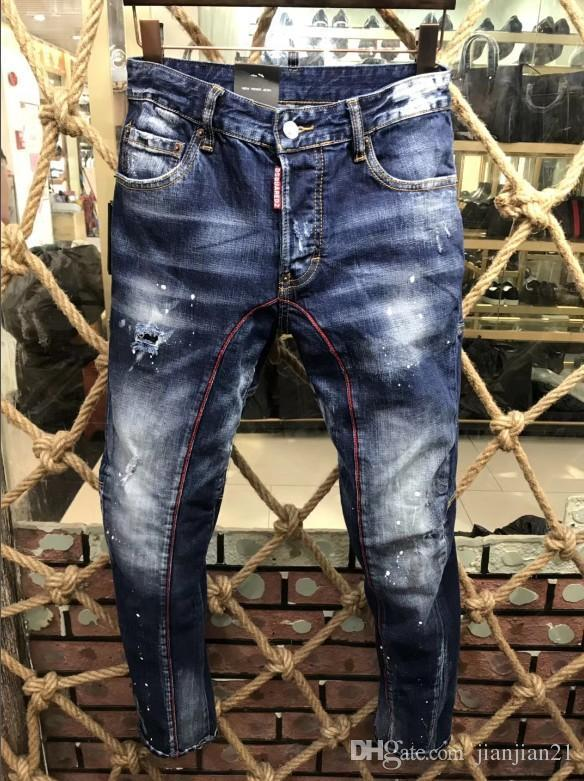 f645d9ba806 18SS Fall Italian Fashion Tide Brand New Men s Jeans Fashion ...