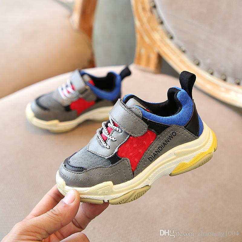a881a0fe1 Satın Al Tasarımcı Yeni Marka Restore Üçlü S Çocuk Ayakkabı Bebek Toddler  Koşu Ayakkabıları Çocuk Boy Ve Gril Spor Sneaker Basketbol Ayakka ...,  $24.65 ...