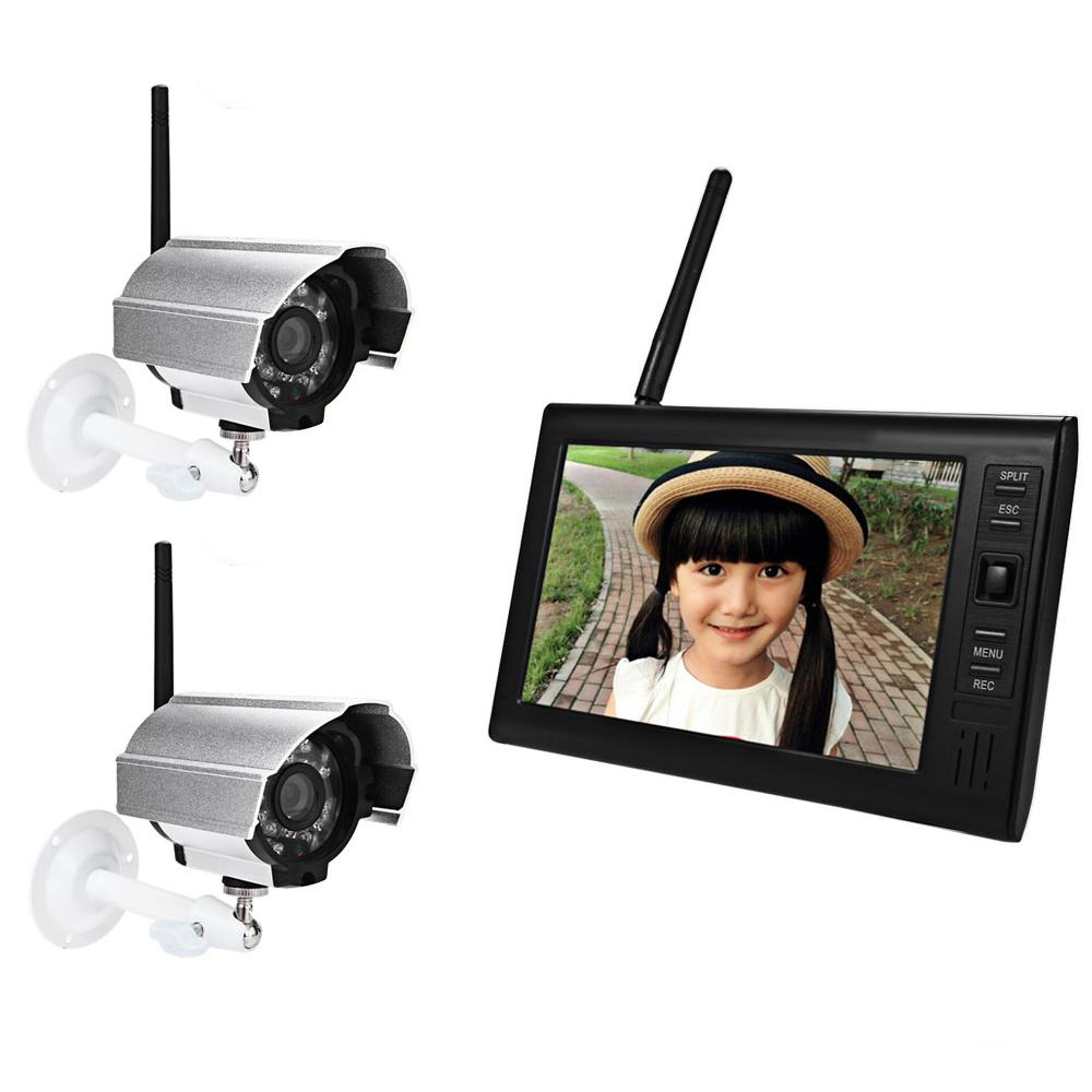 7 Inch TFT LCD Screen Monitor Wireless Waterproof Night Vision IP Camera