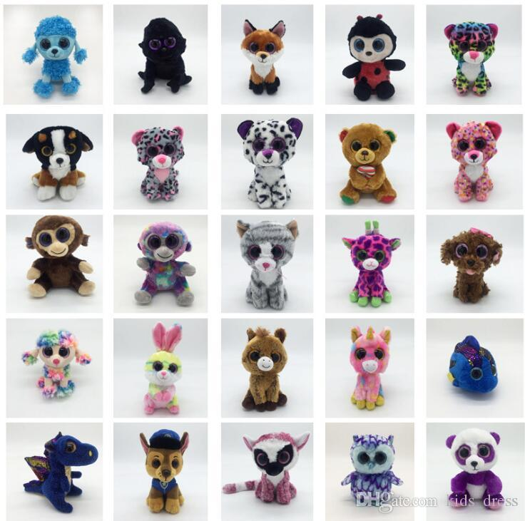 Ty Beanie Boos Plush Stuffed Toys 15cm Wholesale Big Eyes Animals Soft Dolls for Kids Gifts ty Toys Big Eyes Stuffed plush KKA4108