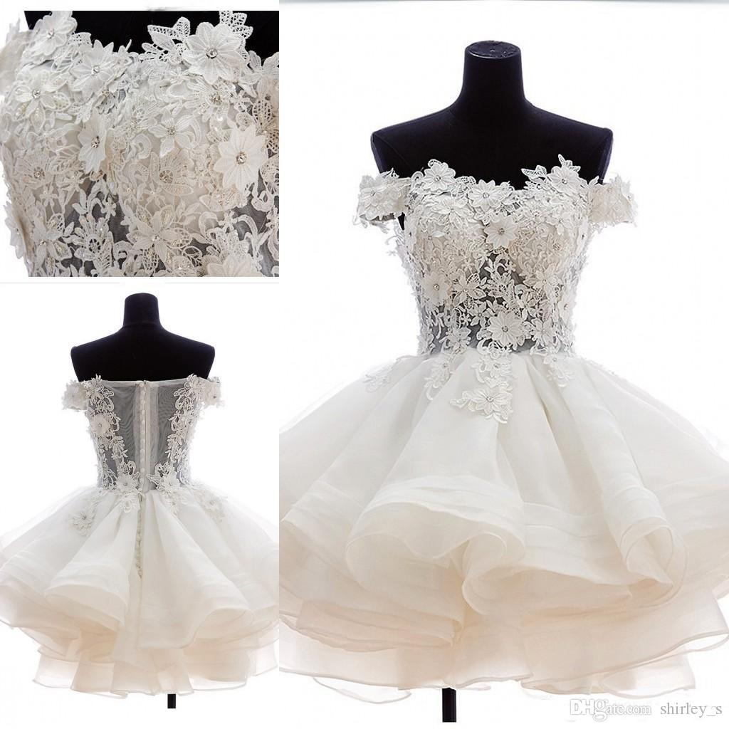 3697812293 Unique Off Shoulder Homecoming Dresses Lace Applique Short 8th Grade Prom  Dress 2018 Custom Made Cocktail Party Gowns Dresses Of 2015 Formal Dresses  Long ...