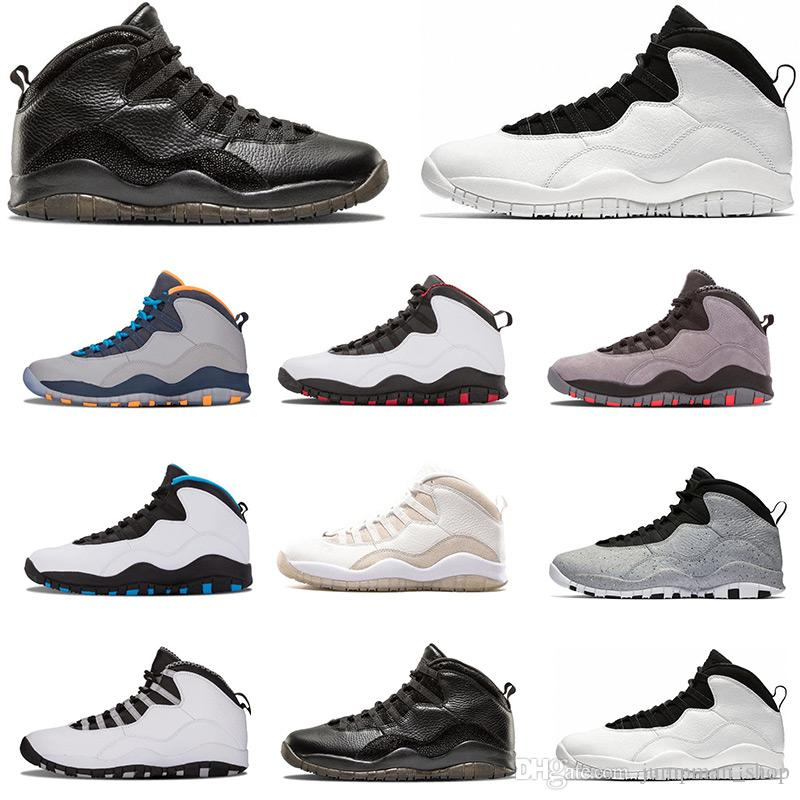 d277bb1bdff6 New Basketball Shoes 10 Cement 10s Mens Shoes Bobcats Grey Red ...