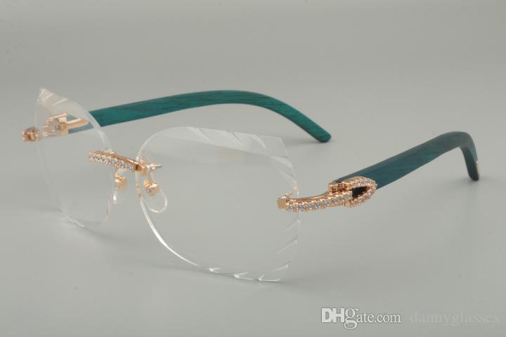 Compre 2019 Nova Moda High End Esculpida Óculos De Armação 8300817 Diamante  Série Azul   Cor   Mão Esculpida Armações De Óculos De Madeira, 58 18 135mm  De ... c78b52929e