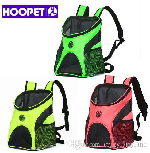 13607a76ebd 2019 HOOPET Pet Carrier Fashion Breathable Carrying Cat Dog Puppy Comfort  Travel Outdoor Shoulder Backpack Portable Luxury Backpacks Top Quality From  ...