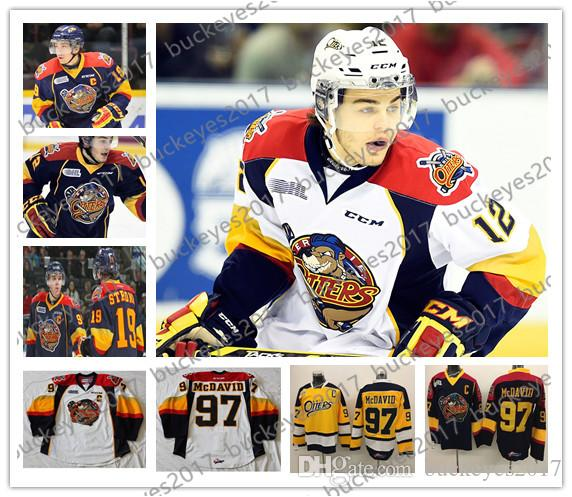 2019 OHL Erie Otters  9 Ryan O Reilly 16 Brad Boyes 18 Vince Scott 19 Dylan  Strome Stitched Navy Blue Yellow White Hockey Jerseys S 4XL From  Buckeyes2017 312380b3f4f