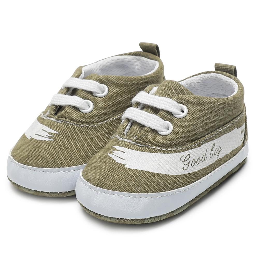 e6725d05813da Toddlers Shoes For Baby Boys Casual Canvas Leather Baby Crib Shoes Sneakers  Soft Soled Anti-Slip First Walkers