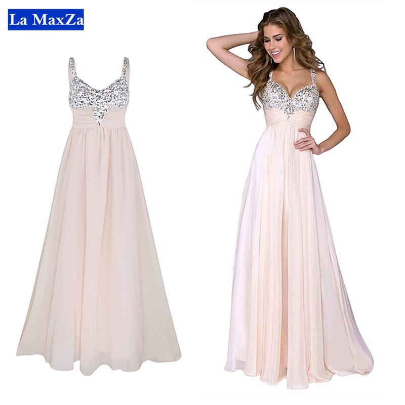 e08fa1be9e607 Women Prom Dress Party Dress Sequin Backless Long Dress Shiny Bling Sexy  Chiffon Strap Maxi Dresses Evening Wedding Vestidos De Festa XL