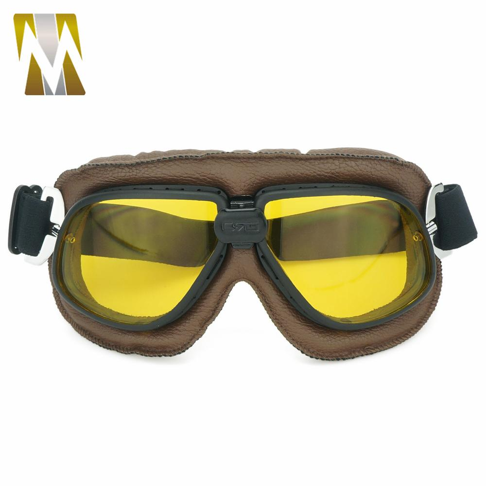 f0b22f6c94 Motorcycle Protective Goggles Glasses Vintage Retro Aviator Pilot Cruiser  Steampunk ATV Bike UV Protection Eyewear Goggle Unisex Prescription  Motorcycle ...