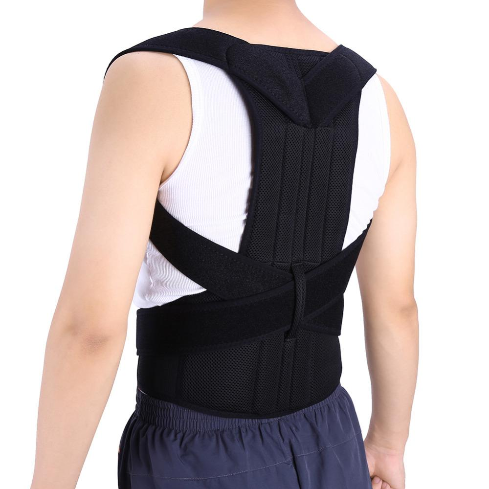 62cbfd2c8b Adjustable Adult Corset Back Posture Corrector Back Shoulder Lumbar Brace  Spine Support Belt Posture Correction For Men Women Upper Back Support  Brace Back ...