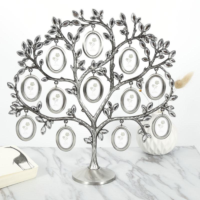 2019 3030cm Family Tree Hanging Photo Picture 12 Frame Holder Table