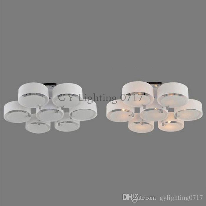 110V 120V 220V 230V Loft led plafonnier moderne minimaliste salon lampe restaurant chambre 3/5/7 anneau rond led plafonnier ramadan