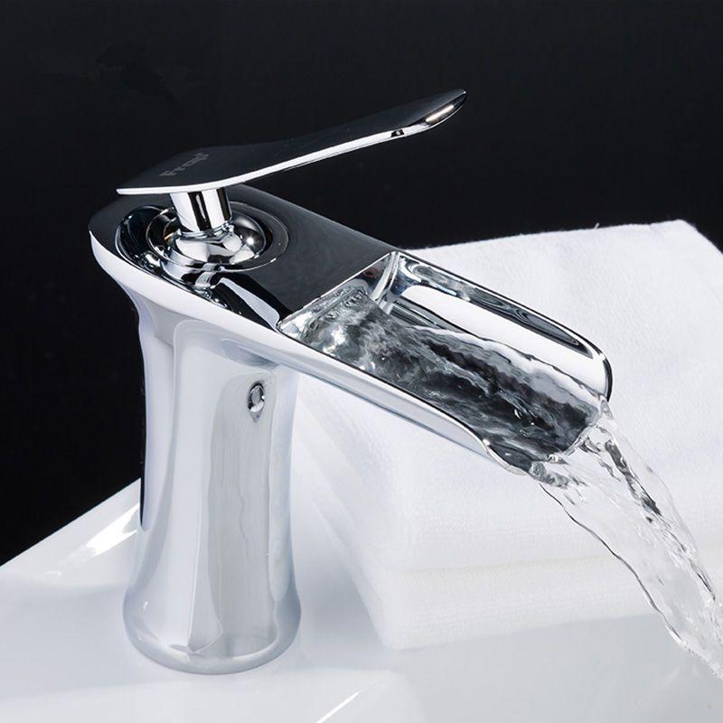Waterfall Bathroom Faucet Single Handle Basin Mixer Tap Bath Antique ...