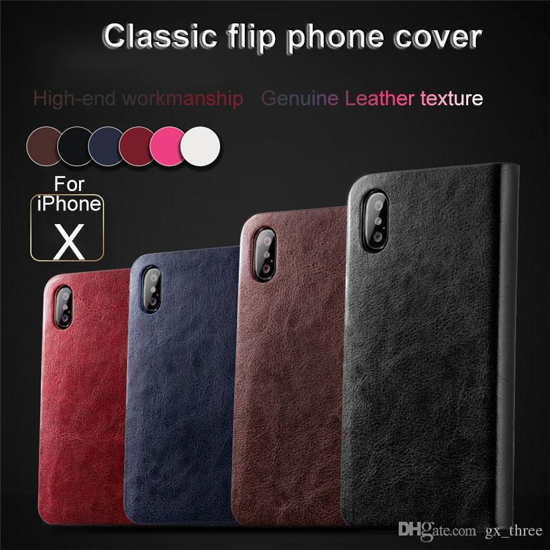 For iPhone X 8 7 6sSamsung Note8 S9 S8 S7S6 Business Vintage Retro Flip Leather Stitching TPU Wallet Soft Shell Anti-drop phone Case