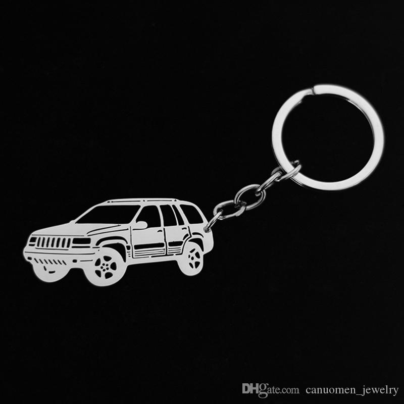 Jeep Car Keychain Stainless Steel Key Rings Key holder Customized Gift Men Women Fashion Jewelry Promotion