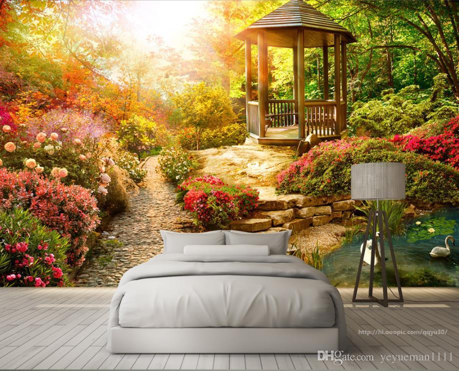 Romantic Wall Murals Living Room Bedroom Decoration Wallpaper Garden