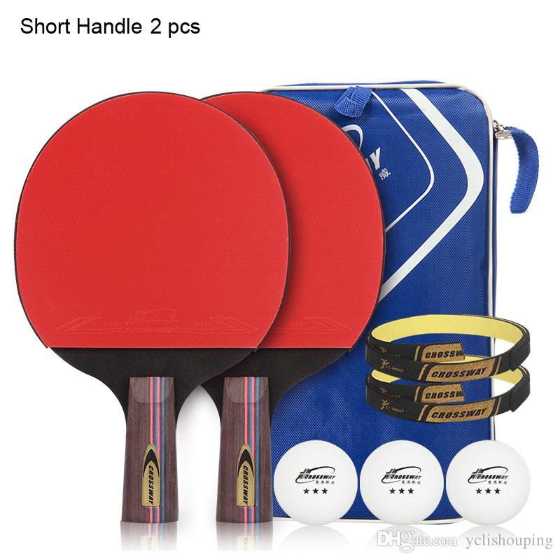 b3493ccc0 Compre Crossway 3 Star Raquete De Tênis De Mesa Ping Pong Paddle 2 Peces    Set De Yclishouping