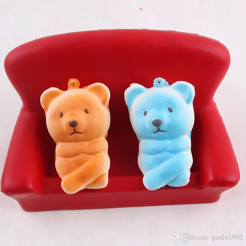 Kawaii Bear Squishies Decompression Toy Cartoon Squishy Phone Straps Charm Pendant Children Play House Gift 2 3sq C