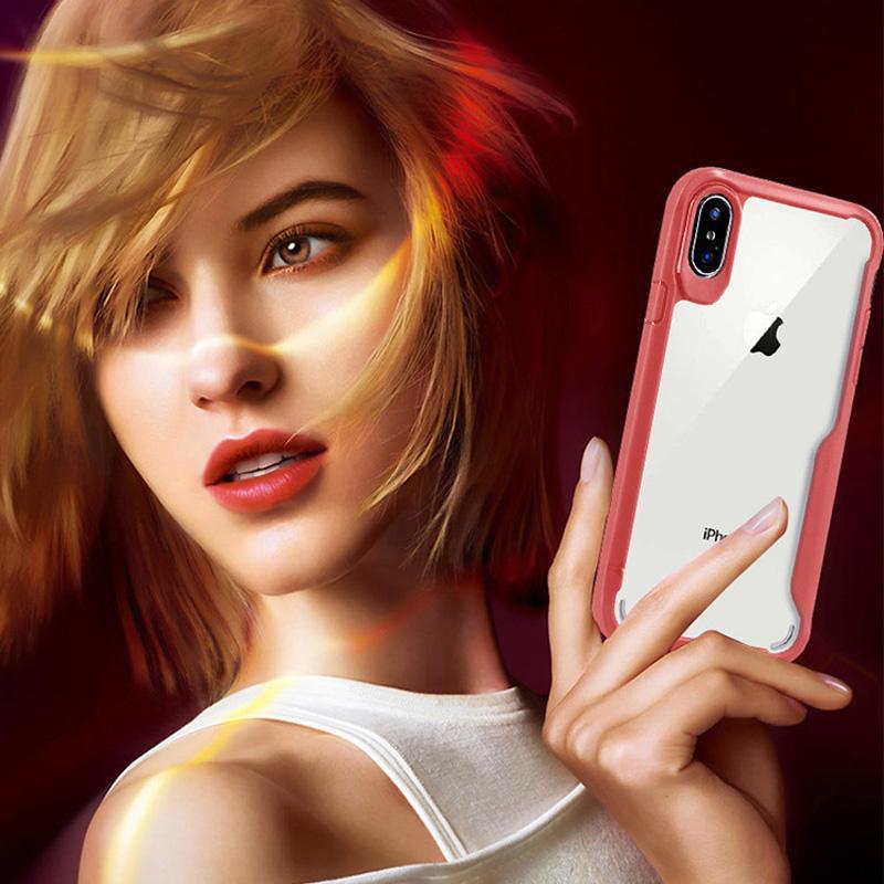 HD Ultra Transparent Clear Acrylic TPU Bumper Back Cover Case For iPhone XS Max XR X 8 7 6 Samsung S8 S9 Plus Note 9 J2 Core A6 A8 2018
