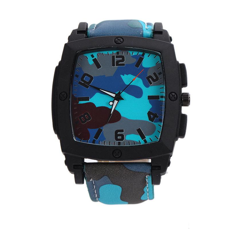 Sea Army Mens Military Watches New Fashion Grind Strap Large Dial Square  Male Style Quartz Watch Men Watches Men Military Watches Men Quartz Watch  Online ... 9908eb2d1bd