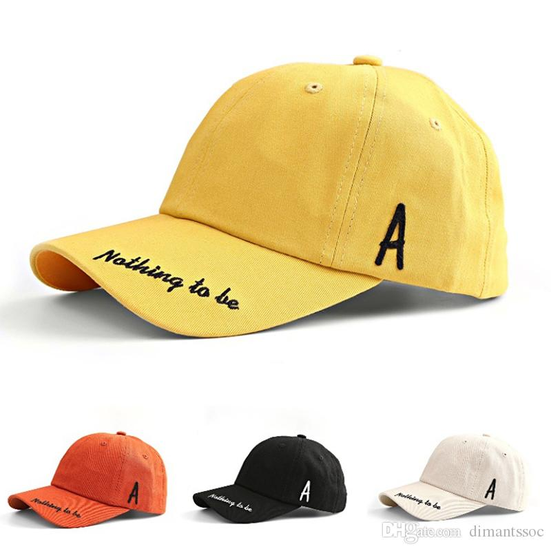 11cd6af484122 2018 Spring New Fashion Baseball Cap Multi Color Optional Hat Embroidery  Side Letter Visor Men Women Cap Hats Online Cap Online From Dimantssoc