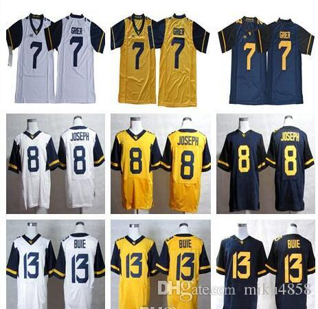 ... spain 2018 wvu west virginia mountaineers 7 will grier limited jersey  gold yellow white navy blue ec8584059