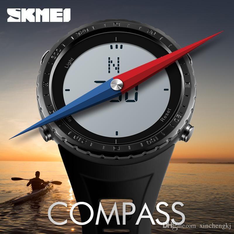 Men's Watches Watches Men Watches Skmei Brand Men Sport Watch 50m Waterproof Digital Fashion Outdoor Military Compass Wristwatches Relogio Masculino Sale Price