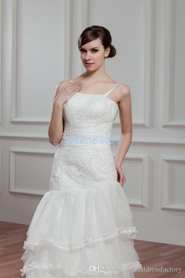 2018 new design hot seller small train bridal gown custom size/color delivery 10 days white/ivory wedding dress
